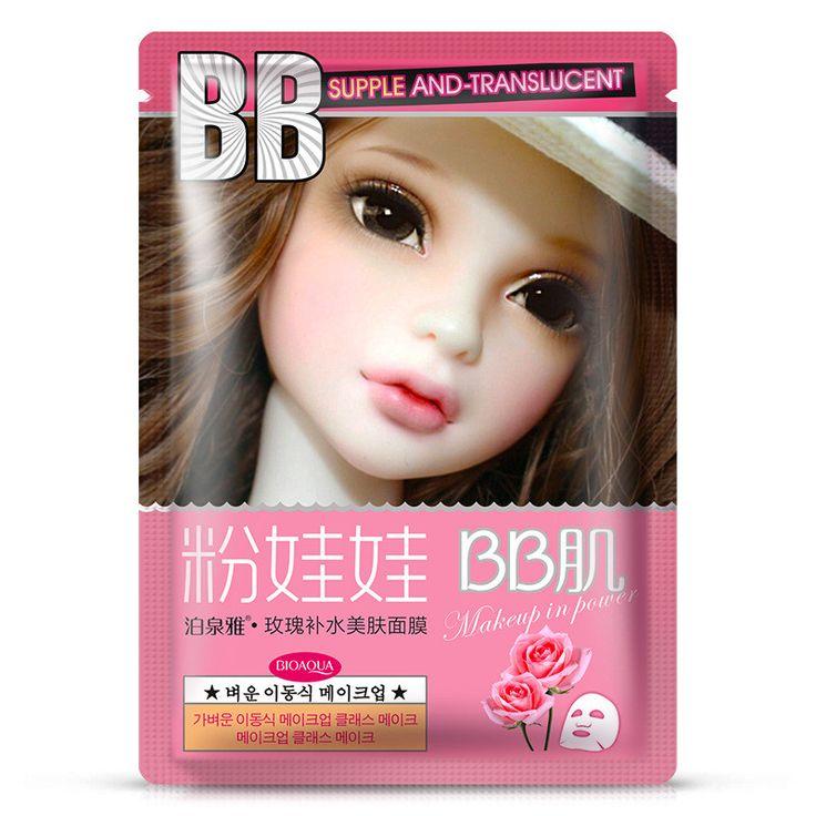 BIOAQUA Face Care Facial mask Rose Plant Essence Moisturizing hydrating Face Mask Beauty Makeup Korean Cosmetic