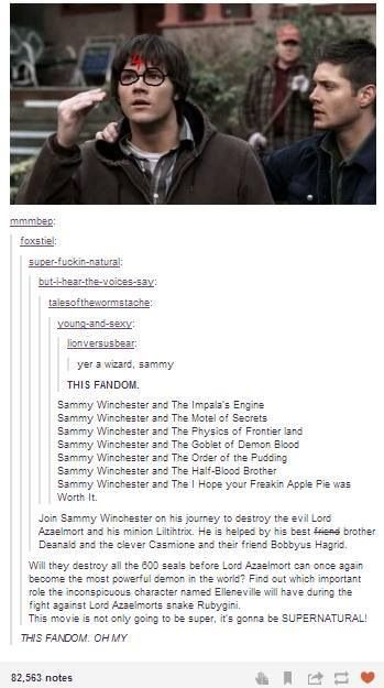 Sammy Winchester and the Order of Pudding XD