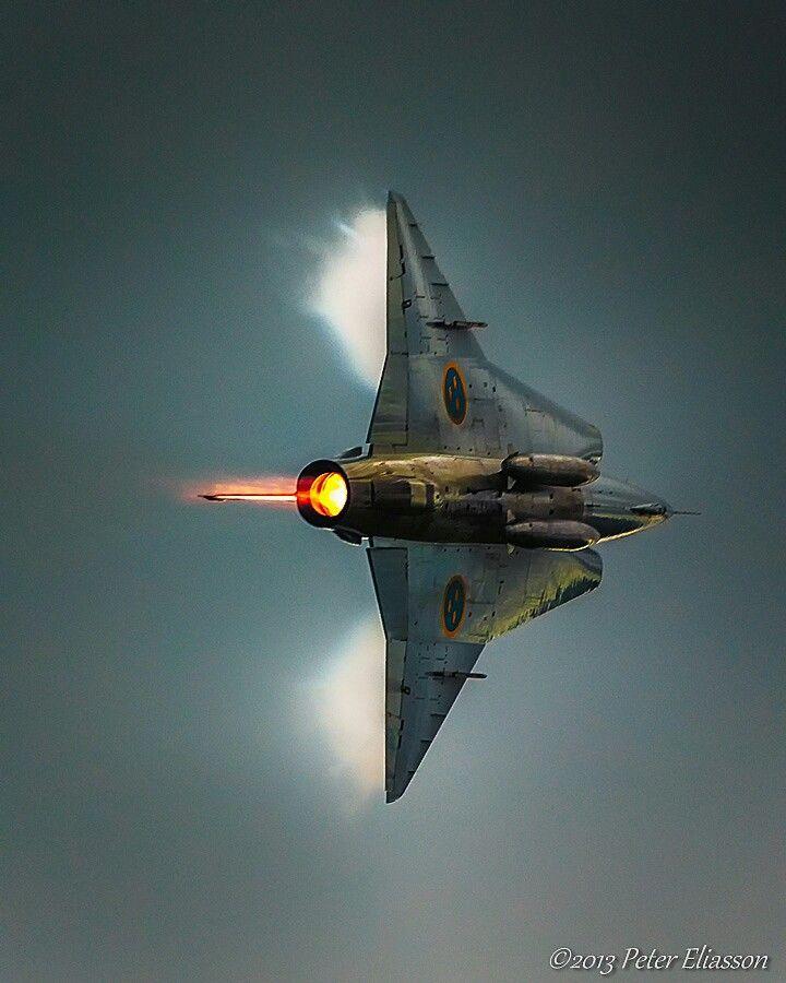 Saab Draken. I love it's lines
