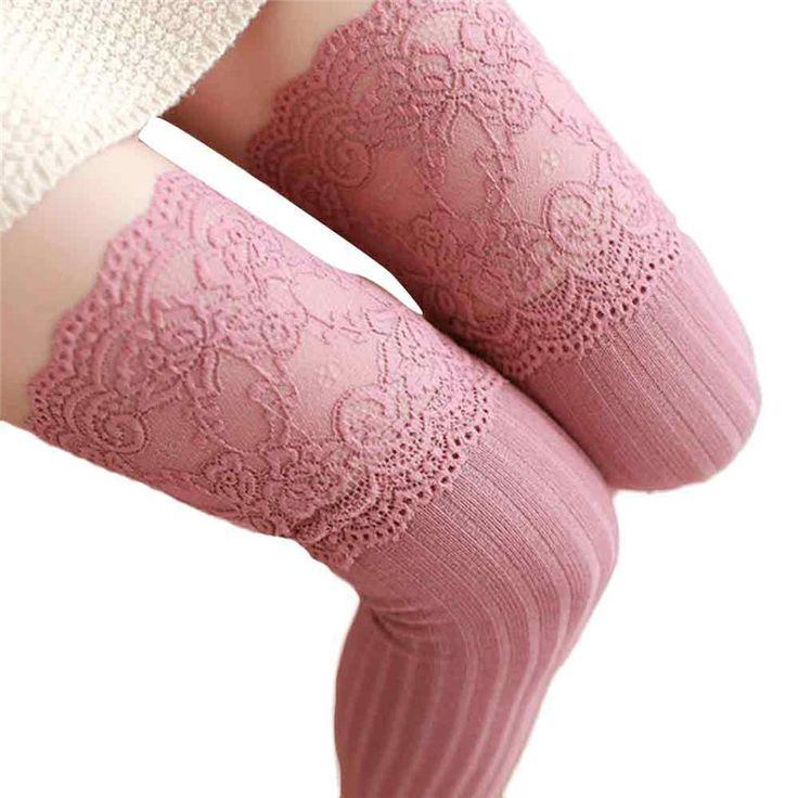 2017 Hot sale fashion Women Girl Winter Over Knee Leg Warmer Soft Cotton Lace Socks Leggin compression funny socks #Affiliate