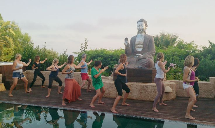 ZenmaX Casa Gazebo, Ibiza retreats, Baduanjin aligning the meridians http://www.thefeel.org/