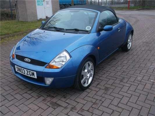 Used 2003 (03 reg) Blue Ford Streetka 1.6i Luxury 2dr for sale on RAC Cars