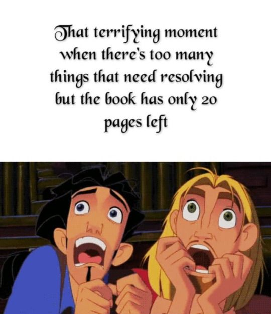 Or all is fine and the book has 150 pages left. There is no in between