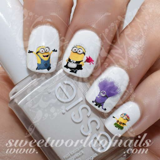 Minions Nail Art Nail Water Decals Water Slides