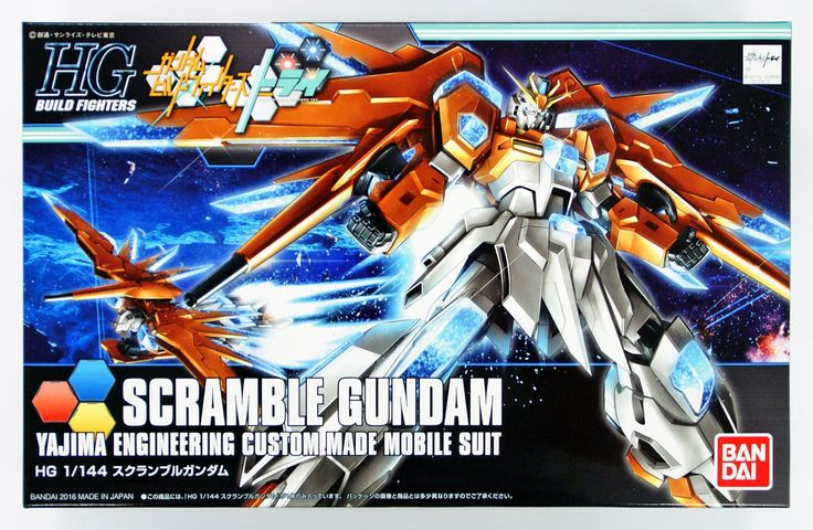 Bandai HGBF Gundam Build Fighters Try Scramble Gundam HG 1/144 Model Kit