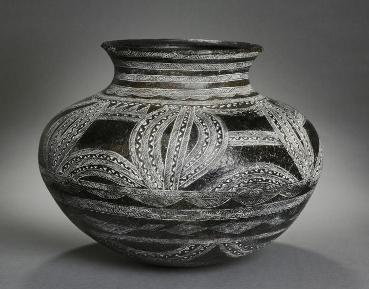 Africa | Grain Pot.  Makonde.  Mid 1900s.
