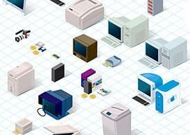 Technology Vector Pack from the 90's – 365psd