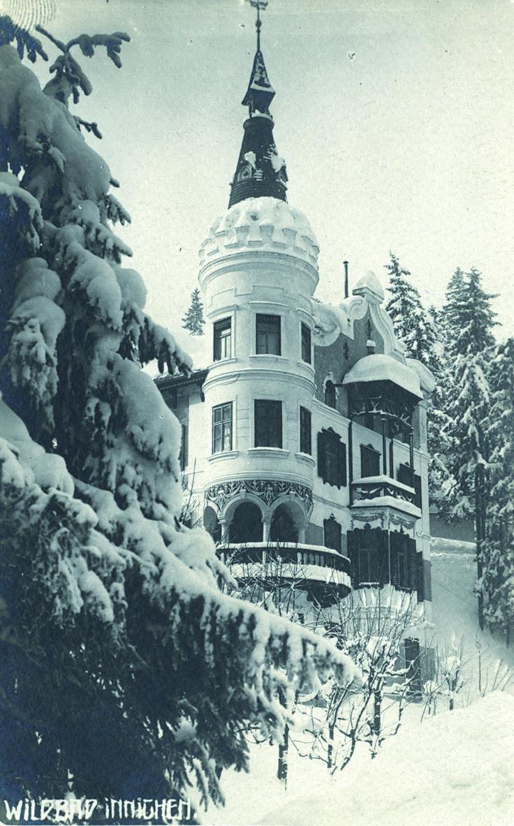 Wildbad Innichen / Bagni di San Candido 1910. Former Grand Hotel in Innichen, Südtirol. Now a ruin.