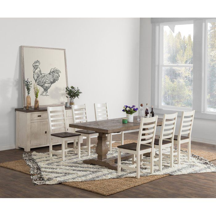 Gertrude Pine Solid Wood Dining Table Reclaimed Wood Dining