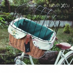 Wicker bike basket by nowykroj.p