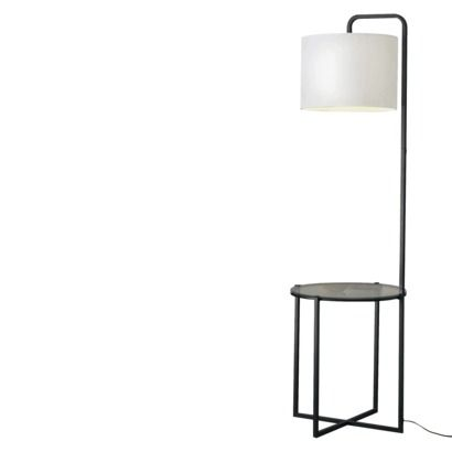 Mid Century Modern Walnut Floor Lamp With Side Table | From A Unique  Collection Of