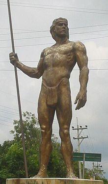 Resultado de imagen de estatua del indio fusagasuga