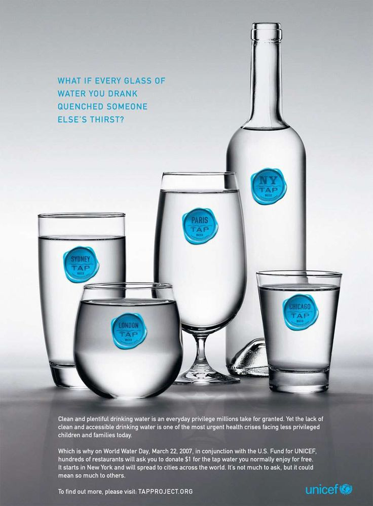 """Droga5's Tap Project for Unicef made it clear just how much cause marketing efforts could do  good things with a simple idea. Get restaurant patrons to """"buy"""" tap water by donating a dollar to Unicef on World Water Day. http://adage.com/lp/top15/#ebook"""