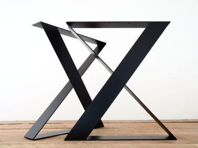 WX28 W24 YEMEK MASA AYAĞI SETİ...Siyah masa ayakları X Yassı Çelik tasarımıyla modern masalar için ..Daha fazlası için www.merka.com.tr
