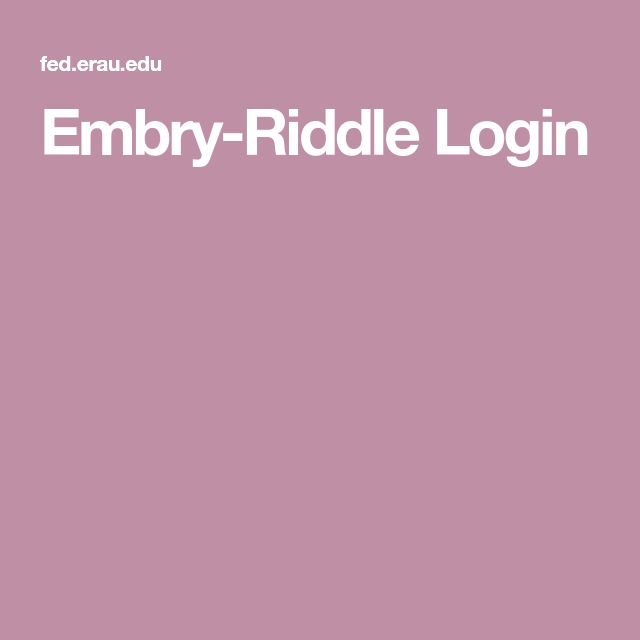 embry riddle login