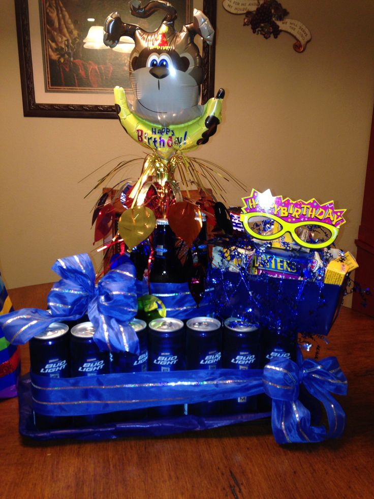 116 best images about rob 39 s surprise birthday party on for Beer bottle decoration ideas