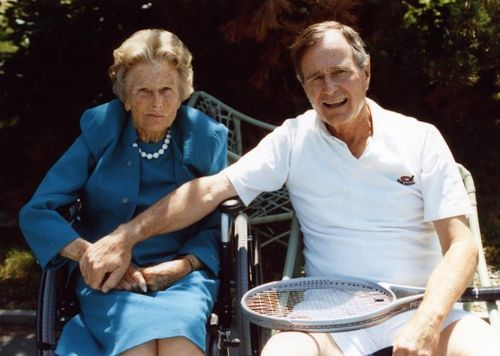 President George Bush and his mother, Dorothy Walker Bush