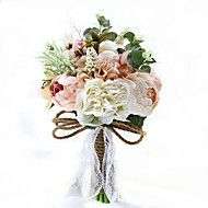 """Wedding+Flowers+Free-form+Lilies+Bouquets+Party/+Evening+Taffeta+19.7""""(Approx.50cm)+–+USD+$+75.98"""