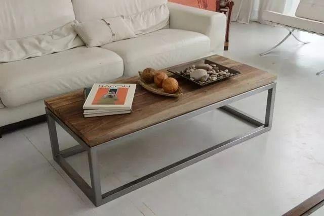 mesa ratona hierro y madera