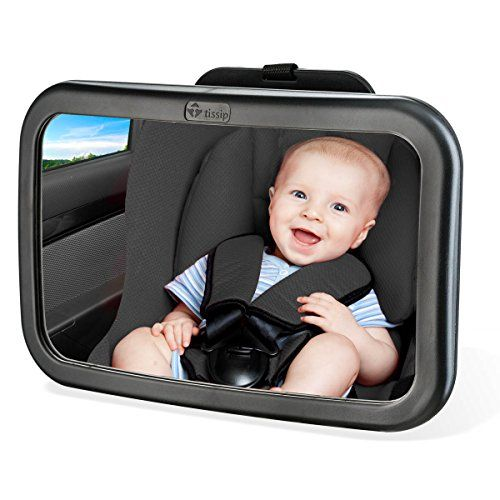 Tissip Rearview Baby Mirror Backseat Mirror for Baby Shatterproof Glass and Adjustable Great for Seeing the Baby -- For more information, visit image link.