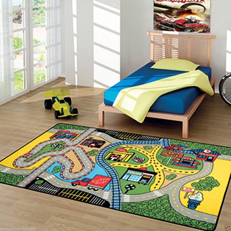 Contemporary Area Rugs Details about Kid us City Play Mat Fun Town Cars Play Village Road Rug Race Track Bedroom