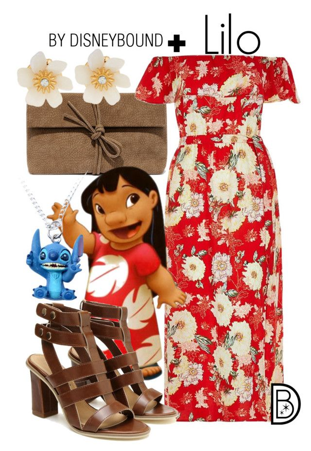 """""""Lilo +"""" by leslieakay ❤ liked on Polyvore featuring LULUS, River Island, Lydell NYC, disney, disneybound and plussize"""