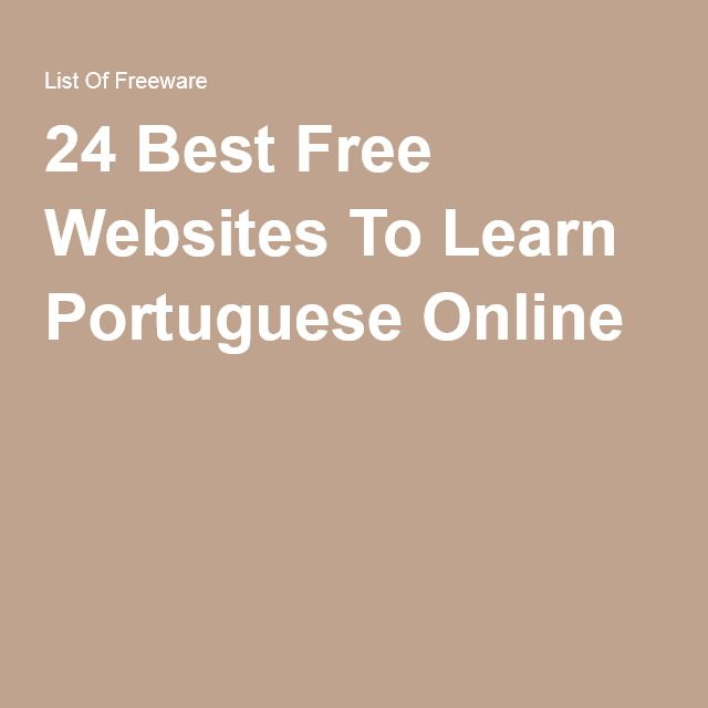 24 Best Free Websites To Learn Portuguese Online
