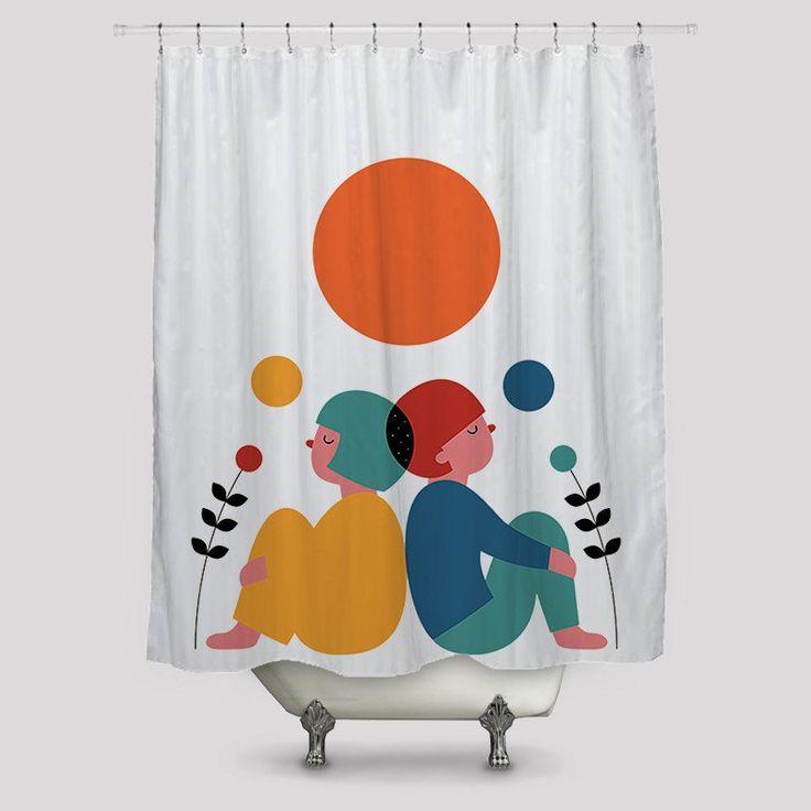 Distance Shower Curtains http://www.toko6.com/products/distance-shower-curtains