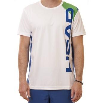 Camiseta de padel técnica Head Energy de hombre, color blanco 100% poliéster interlock hecha de microfibras de transporte de la humedad, ligera, transpirable y duradera.  http://www.winpadel.com/ropa-de-padel/camiseta-de-padel-head-energy