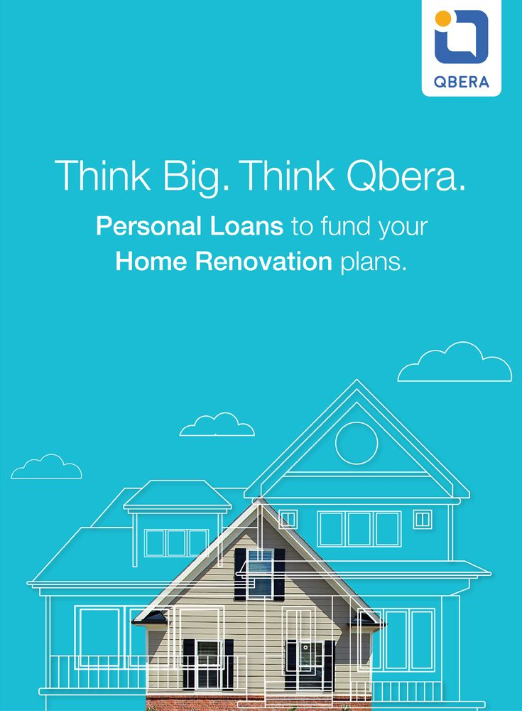 Think Big Think Qbera Personal Loans To Fund Your Home Renovation Loan Plans Ref Url Https W Home Improvement Loans Renovation Loans Home Renovation Loan