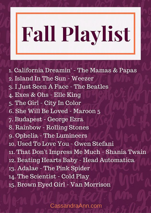 Fall Playlist 2016 | Lifestyle Blog - Fashion Blog - DIY Blog