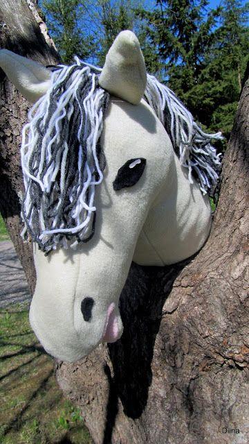 www.katrinompelimo.fi  Hobby horse keppihevonen (fleece and yarn) norjanvuonohevonen fjord horse Norsk fjordhäst