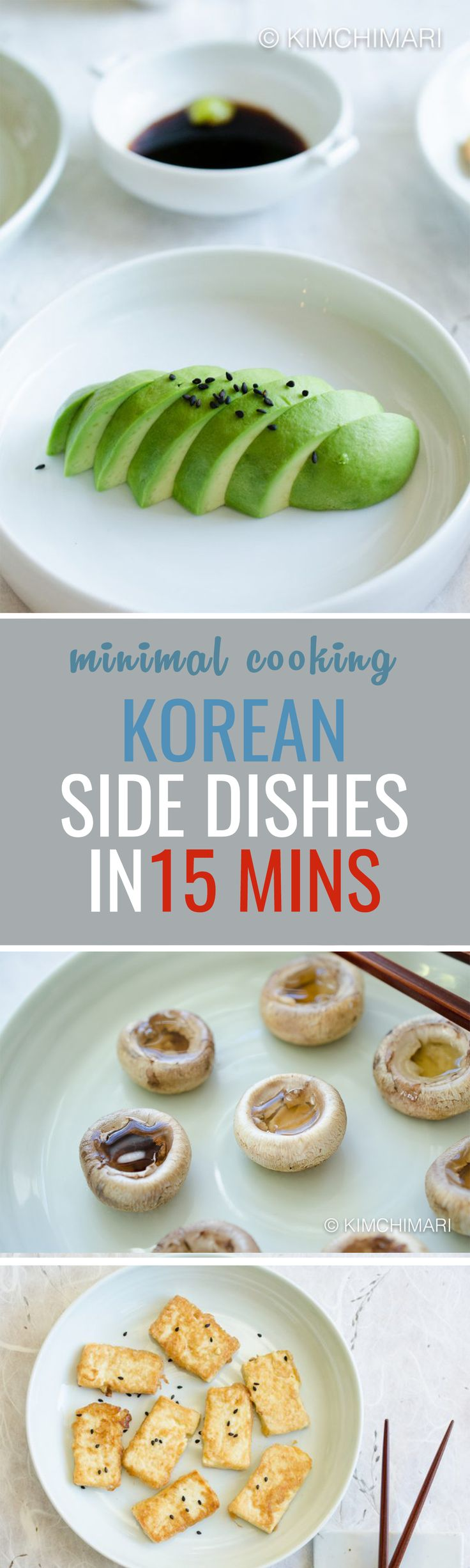 3 QUICK KOREAN SIDE DISHES IN UNDER 15 MINUTES!! Individually, each dish only takes 5 to 10 minutes. And they all go great with any Korean meal!!
