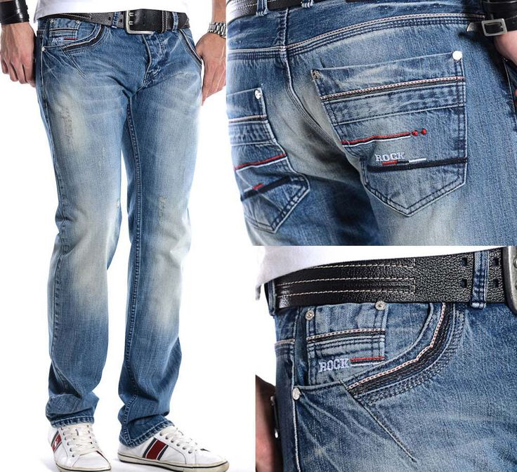 Rock Creek Herren Star Jeans Denim Hose W30-W40 NEU H205