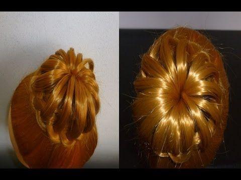 Schöne Frisur ohne Duttkissen:Geflochtener Dutt.Hochsteckfrisur.Hair Bun Updo Hairstyle.Peinados - YouTube
