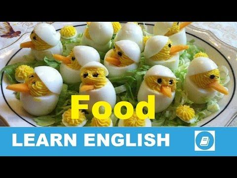Learn English Vocabulary - FOOD 1 - Talking Flashcards - E ANGOL