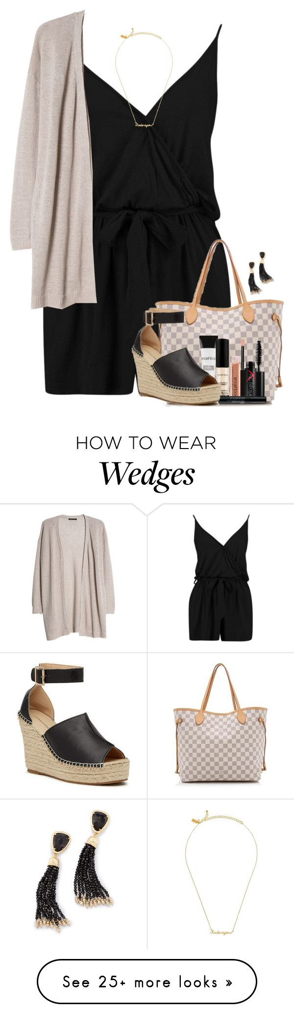 """I LOVE YOU."" by amberfmillard-1 on Polyvore featuring Boohoo, Kate Spade, MANGO, Louis Vuitton, Smashbox and Kendra Scott"
