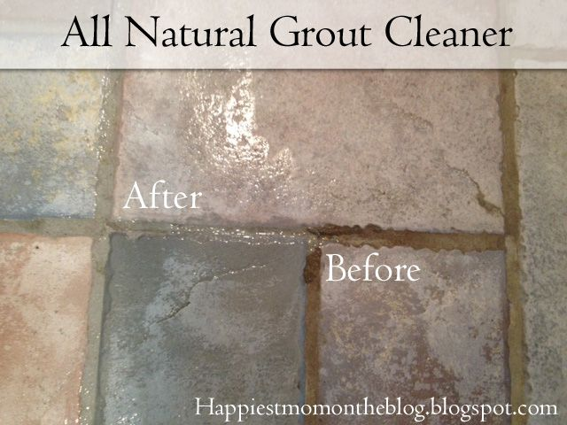 all natural grout cleaner really works, but it doesn't have harsh fumes like Oxi-clean.  These ingredients can even be found in your pantry. 7 cups of water 1/2 cup of baking soda 1/3 cup of lemon juice 1/4 cup of vinegar