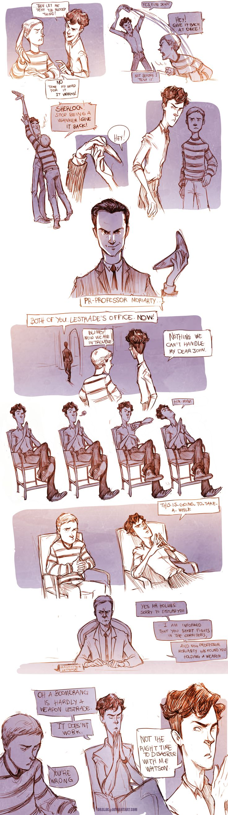 Teen Sherlock- The Boomerang Pt1 by DrSlug.deviantart.com on @deviantART
