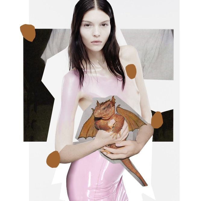 Eastersaur, April 2014. #Bukanova #Fashioncollage