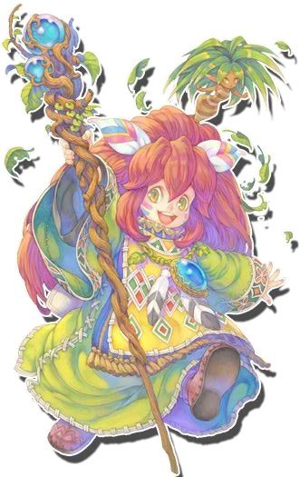 "I'd have to be crazy to forget her. :3 Popoi from ""Secret of Mana"". (Yes, he's supposed to be a guy, but he's a girl to me, so there. 8B *RUNS*)"