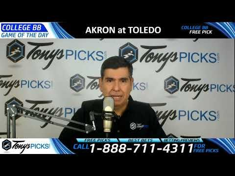 Akron Zips vs. Toledo Rockets Free NCAA Basketball Picks and Predictions...