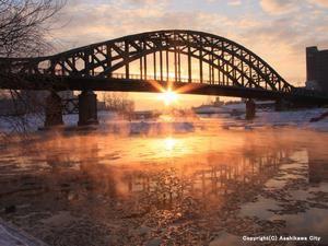 Asahi Bridge.Looking for more information aboout Hokkaido? Go Visit Asahikawa City. http://www.city.asahikawa.hokkaido.jp/