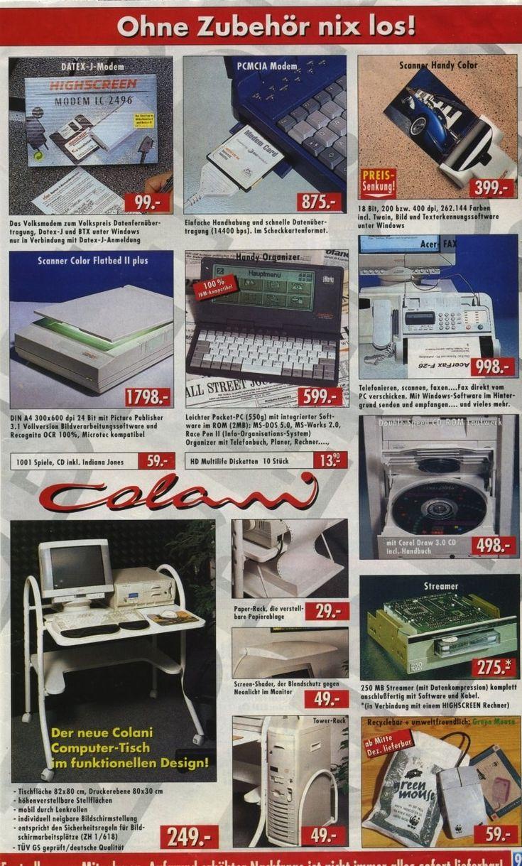 Der Computer-Tisch unten links war eigentlich das Beste an den 90ern und sollte dringend einen Comeback machen.