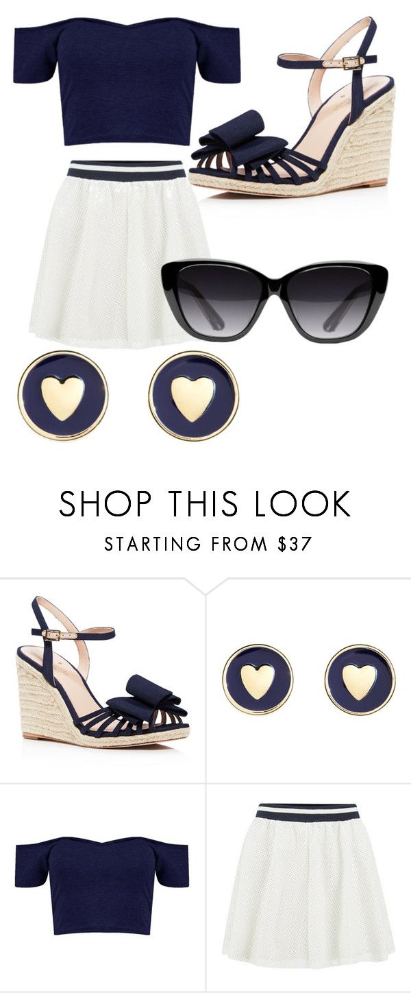 """""""Untitled #654"""" by jaimie-lynn-1 ❤ liked on Polyvore featuring Kate Spade, Brooks Brothers, ONLY and Elizabeth and James"""