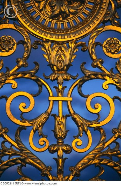 Detail of a gate in the Jardin des Tuileries
