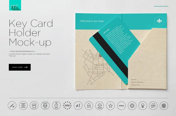hotel key card holder mockup