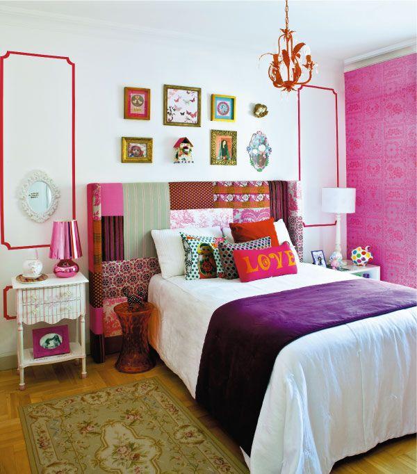 Quarto tom pink brilhante - Borges Landeiro - Imóveis a venda - Apartamentos prontos para morar em Goiânia e Brasília
