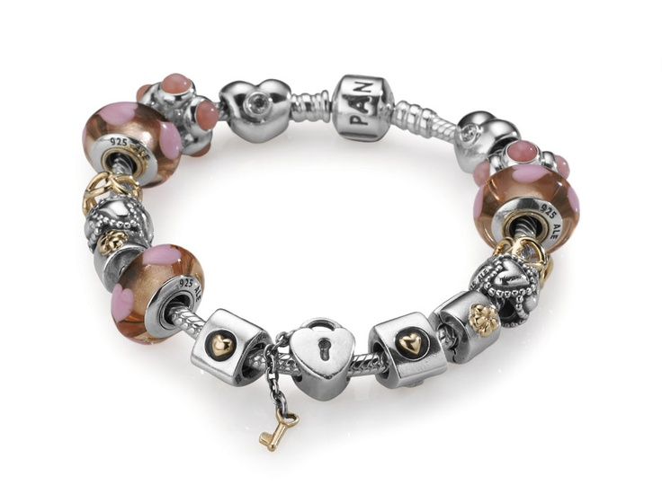 Fine Jewelry Forever Moments Breast Cancer Ribbon Charm Bracelet Bead Exs4MIN