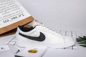 Mens Womens Nike Blazer Low Suede White Black Footwear  77015cf009